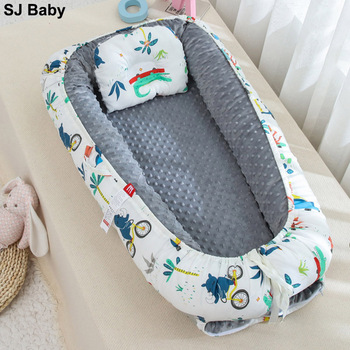 Portable Baby Crib Nursery Travel Folding Baby Cots Bubbles Toddler Nest Bed Detachable Crib Travel Bed Baby Bassinet Bumper portable folding newborn baby sleeping artifact 90 55 15cm travel bed for children kids bassinet crib