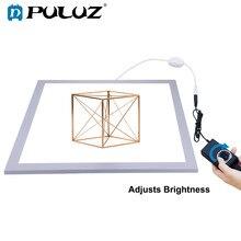 Puluz luz de led para fotografia 1200lm, painel de luz inferior de 15/15in/38x38 cm regulável para 40 estúdio fotográfico de cm, caixa de tenda