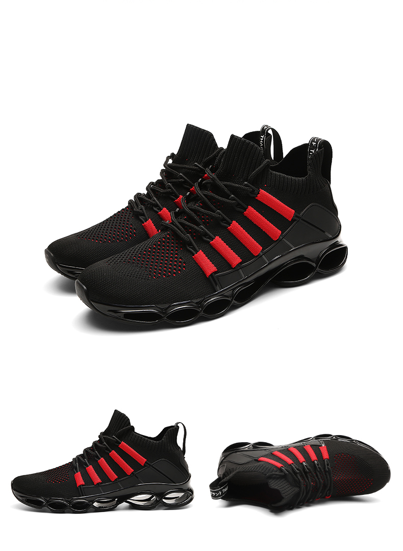 Ha3eed9a2be70455eae8d31b81dad075cG - New Fishbone Blade Shoes Fashion Sneaker Shoes for Men Plus Size 46 Comfortable Sports Men's Red Shoes Jogging Casual Shoes 48