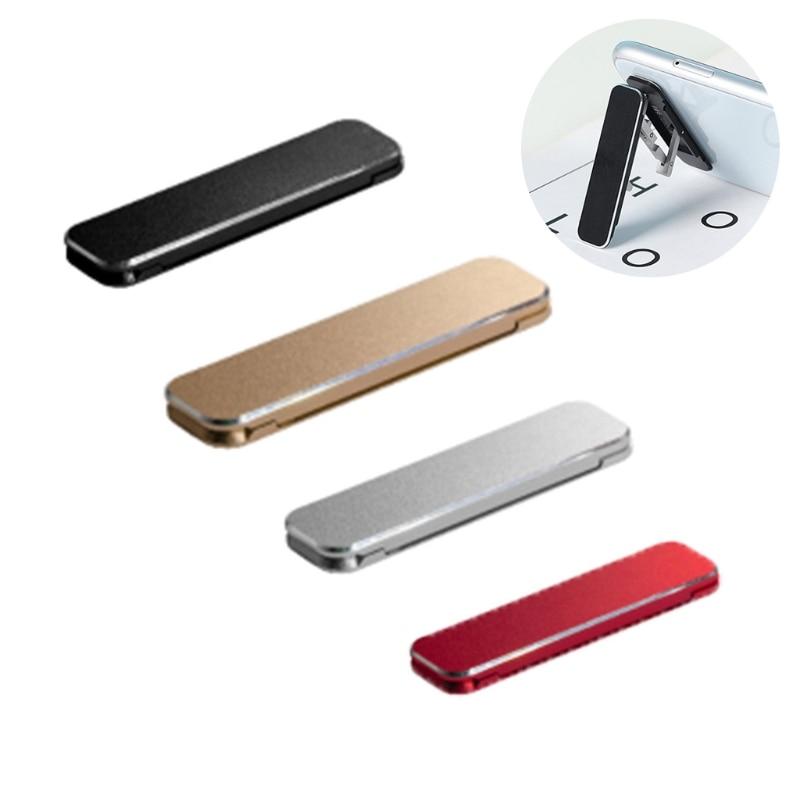 Universal Mini Size Aluminum Portable Folding Desk Mount Holder Bracket Mobile Phone Cradle Foldable Stand for Cellphone