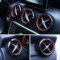 Двухцветная Автомобильная крышка кольца на вентиляционное отверстие  украшение обшивки для Mercedes Benz A W176 GLA X156 CLA C117 class
