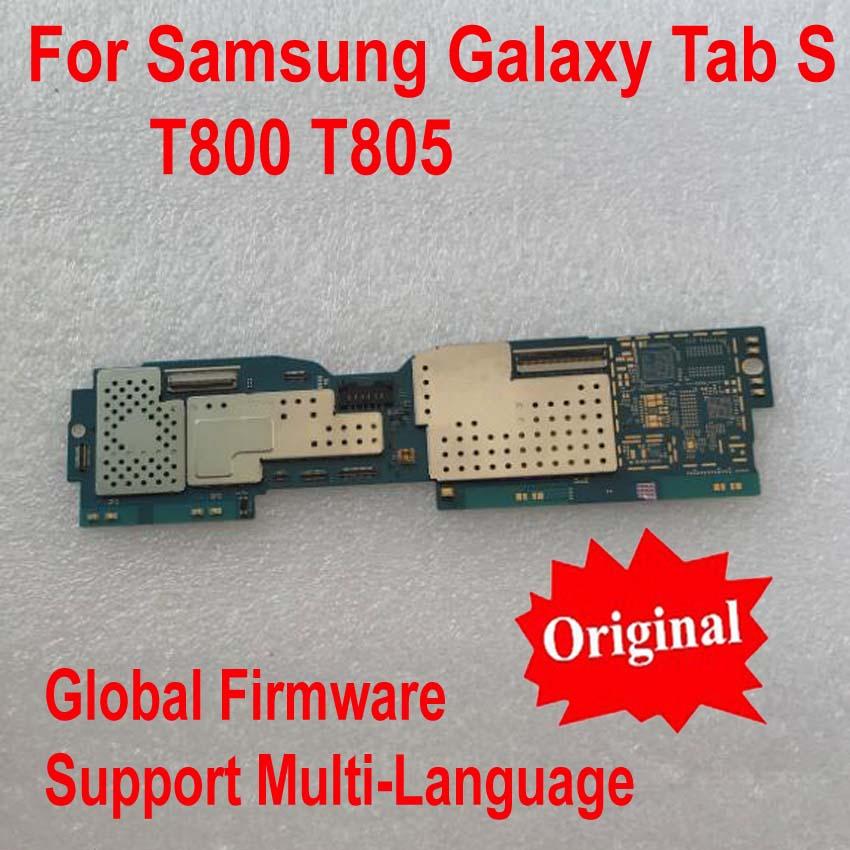Original Unlock Global Firmware Mainboard For Samsung Galaxy Tab S T800 T805 Motherboard card fee flex cable Logic Circuits