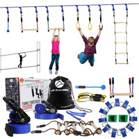 Ninja Line Outdoor Hanging Obstacle Course Ninja Warrior Outdoor Training Equipment 15 Meter Slackline With Training Accessory
