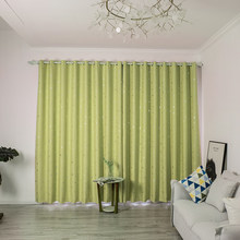 Snowflake Type Shading Curtains Home Living Room Bedroom Decoration 1*2.5M(China)
