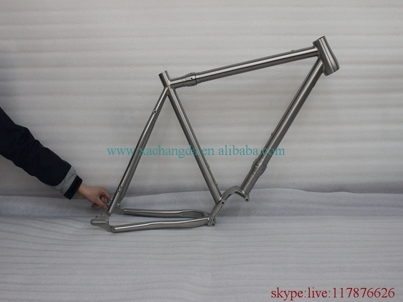 Road-Bicycle-Frame Titanium Couple-Gearbox with Taper-Head-Tube And Liding Dropouts Bsa-Thread
