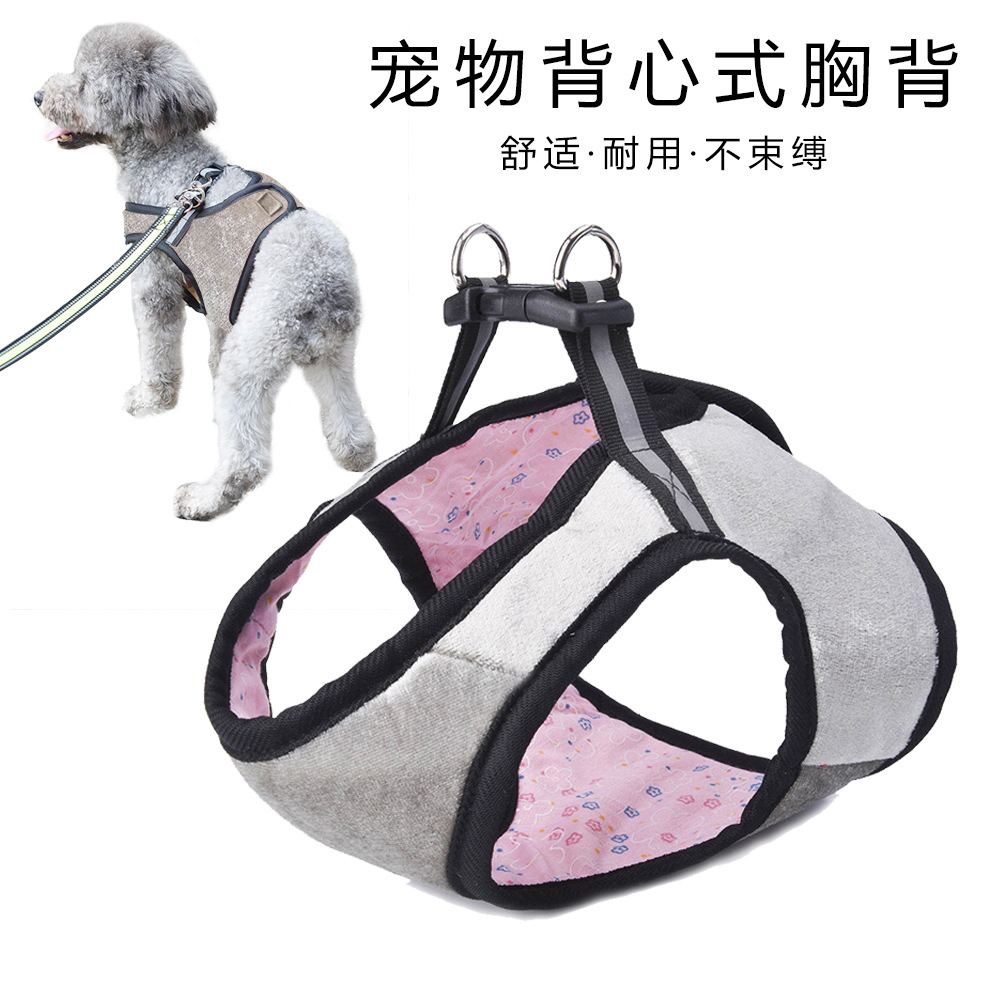 T Pet Supplies New Style Pet Vest Style Chest And Back With Dog Hand Holding Rope Chest And Back