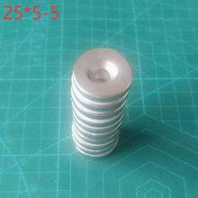 цена 10Pcs Neodymium Magnet 25mm X 5mm Hole 5mm N35 NdFeB Round Super Powerful Strong Permanent Magnetic Imanes Disc 25x5Hole 5 онлайн в 2017 году