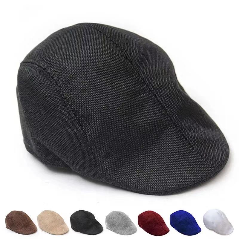 New Summer beret men design linen hat women autumn and winter berets comfortable boinas breathable mesh cap sunbonnet caps