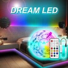 WS2811 taśmy LED światła kolor marzeń lampa RGB 5M 10m 20M SMD 5050 niewodoodporny diody DC 12V zestaw końcówek taśma Led elastyczne