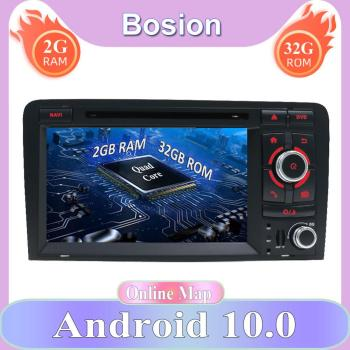 2 Din 7'' For Audi A3 8P S3 RS3 Sportback Android 10.0 2GB 32GB Car Multimedia Radio Stereo GPS Navigation WiFi 2din DVD CD image