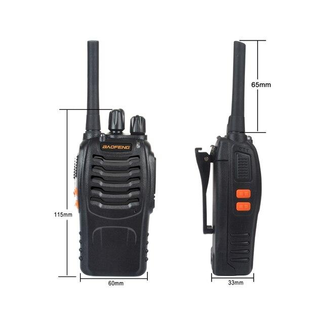 2 قطعة/زوج USB شاحن اسلكية تخاطب Baofeng BF-888H UHF 400-470MHz 16CH VOX المحمولة اتجاهين راديو bf-888h 6