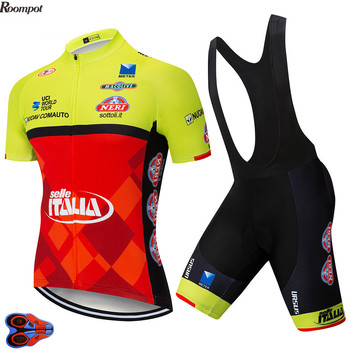 2020 equipo de ITALIA Ciclismo Jersey 9D Gel Pad bicicleta pantalones cortos...