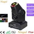 30 Вт Мини Светодиодный точечный светильник с движущейся головкой с RGB светодиодный полосы DMX512 светодиодный гобо сценический светильник ing в...