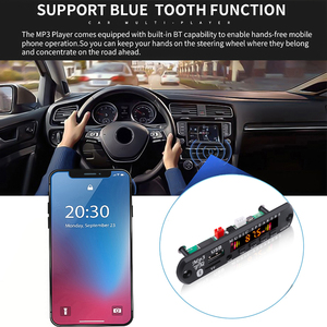 Image 5 - MP3 Module Bluetooth 5.0 Receiver Car Kit MP3 Player Decoder Board Color Screen FM Radio TF USB 3.5 Mm AUX Audio For Iphone XS