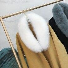 Ms. minShu Echten Fuchs Pelz Kragen Schal Für Frauen Winter Fuchs Pelz Schal 100% Natürliche Fuchs Haut Kragen Hals Wärmer Benutzerdefinierte maß