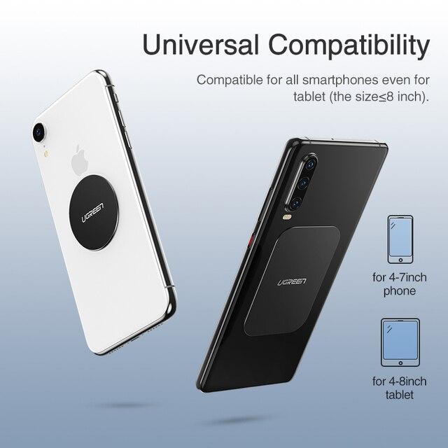 Ugreen Car Phone Holder Metal Plate Magnet Disk For iPhone x Magnetic Stand Support Smartphone Voiture Accessory Celular Holder 3
