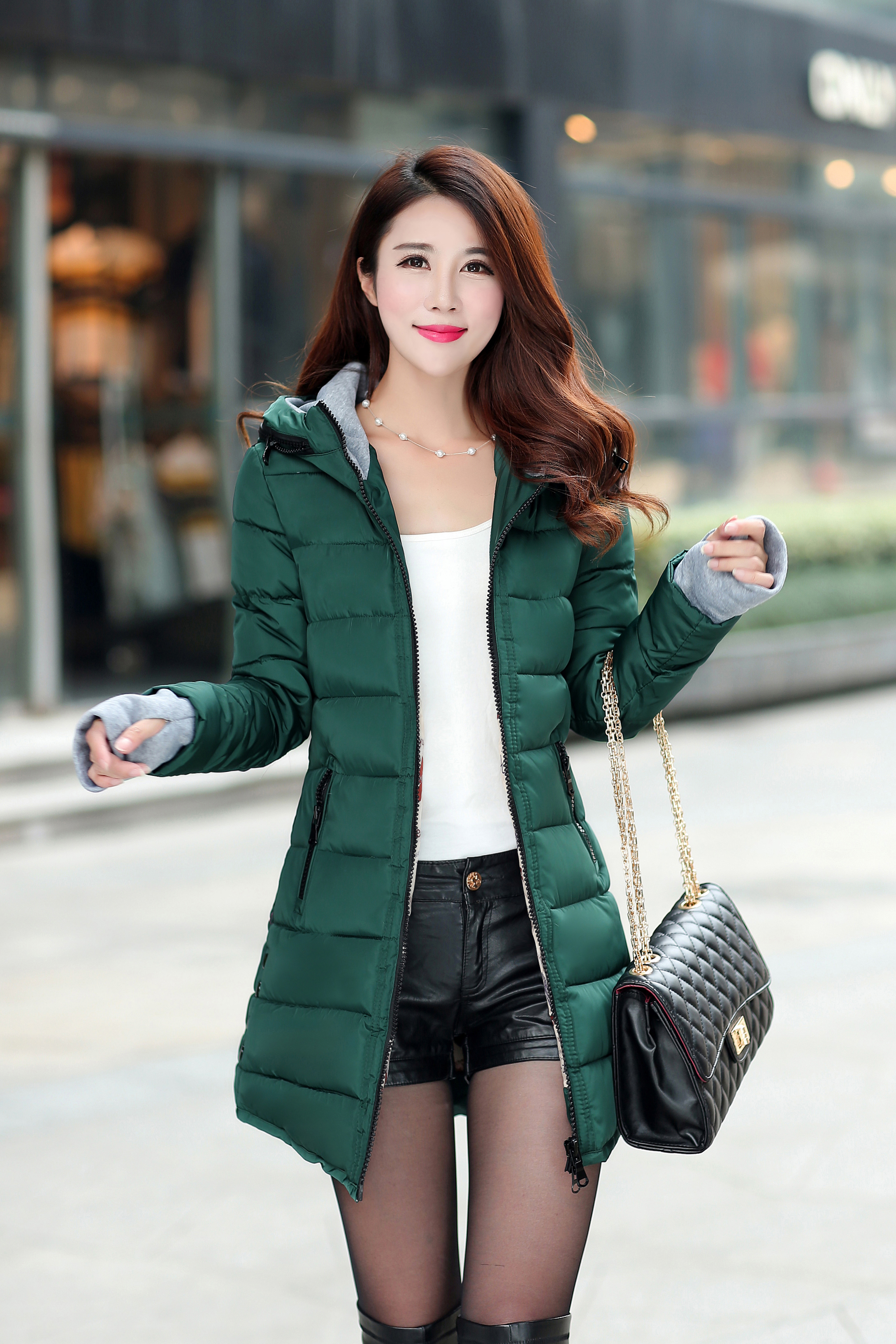 Anbenser Down Jacket Women Long Parka Ultra Light Downjacket Coat Long Plus Size Winte Autumn Warm Jacket Coat Lady Down Jacket