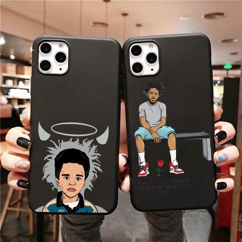 J. cole hip hop macio tpu silicone macio caso de telefone para iphone 5 5S se, 7 8 mais 6 6s x xs max 11 pro max 12pro max 12mini concha