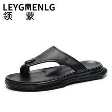 Flip-flops Mens Fashion Summer Non-Slip Men Slipper outside Beach Sandals Slippers fender summer men genuine leather slippers