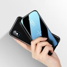 Беспроводной внешний аккумулятор 30000 мА/ч с двумя usb-портами для быстрой зарядки с зеркальным экраном, беспроводное зарядное устройство, внешний аккумулятор для iphone8 X