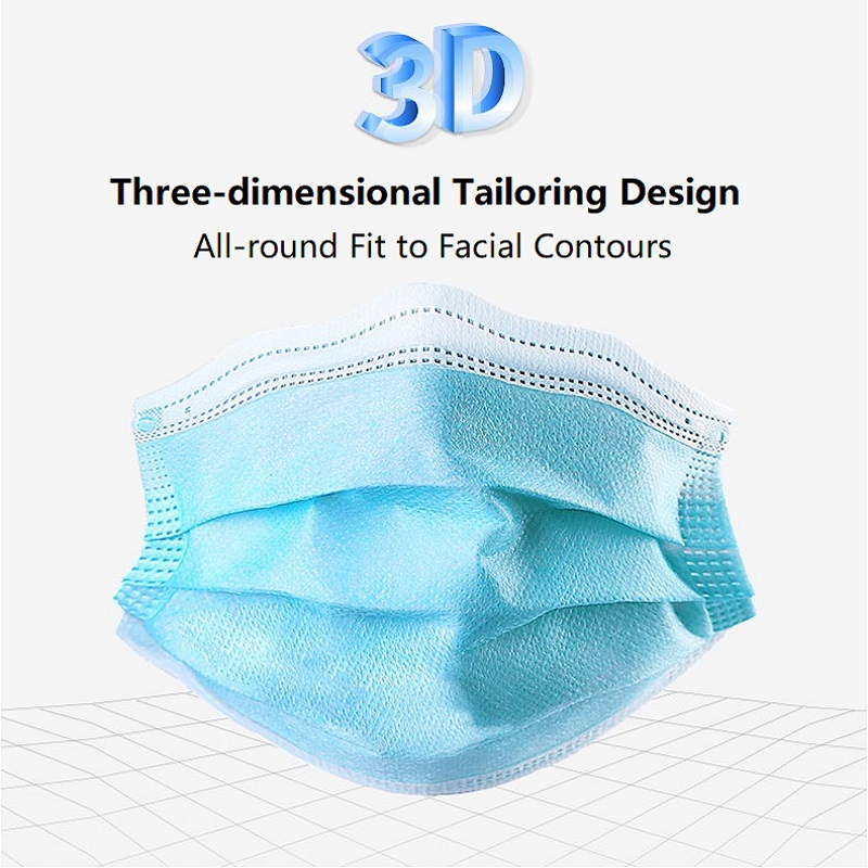 N95 Medical Mask Surgical Face Mask Disposable Masks 3 Ply Anti  bacterial Anti Dust PM2.5 Nonwoven Elastic Earloop Mouth Mask  -