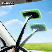 Car Window Cleaner Towel Microfiber Applicator Car Wash Brush Windshield Moisture Towel Washable Auto Cleaning Tool