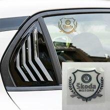 1 шт. Стайлинг автомобиля 3D металлическая наклейка значок на окно автомобиля наклейки для Skodas Octavia A5 A7 Fabia превосходные аксессуары для стайли...