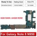 Оригинальная материнская плата Tehxv для Samsung Galaxy Note 8 N950FD N950F 64 Гб 128 ГБ разблокированная материнская плата EXynos Европейская версия