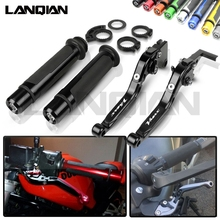 For Yamaha V-MAX VMAX 1200 Motorcycle CNC Brake Clutch Lever & 7/8 22MM Handlebar Grips  1985-2007 Accessories