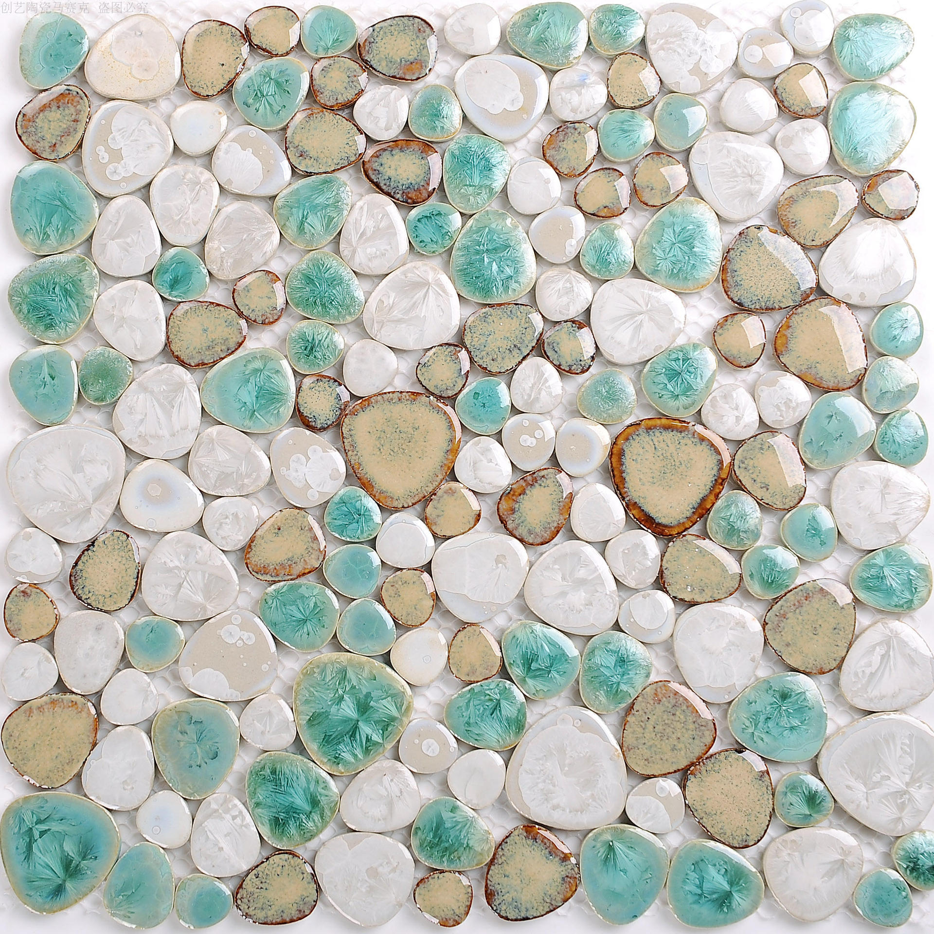 Ceramic Fish Pond Pebble Mosaic Tile Anti-slip Resistant Tiles Bathroom Outdoor Pool Hot Spring Pool