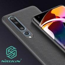 Nillkin dokulu naylon doku desen kılıfı için Xiaomi Mi 10 Mi10 Pro Ultra