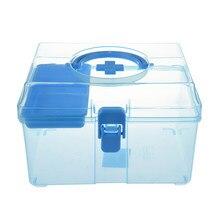 Trousse de premiers soins de pilule de poitrine de médecine de boîte saine de famille en plastique de couleur chaude