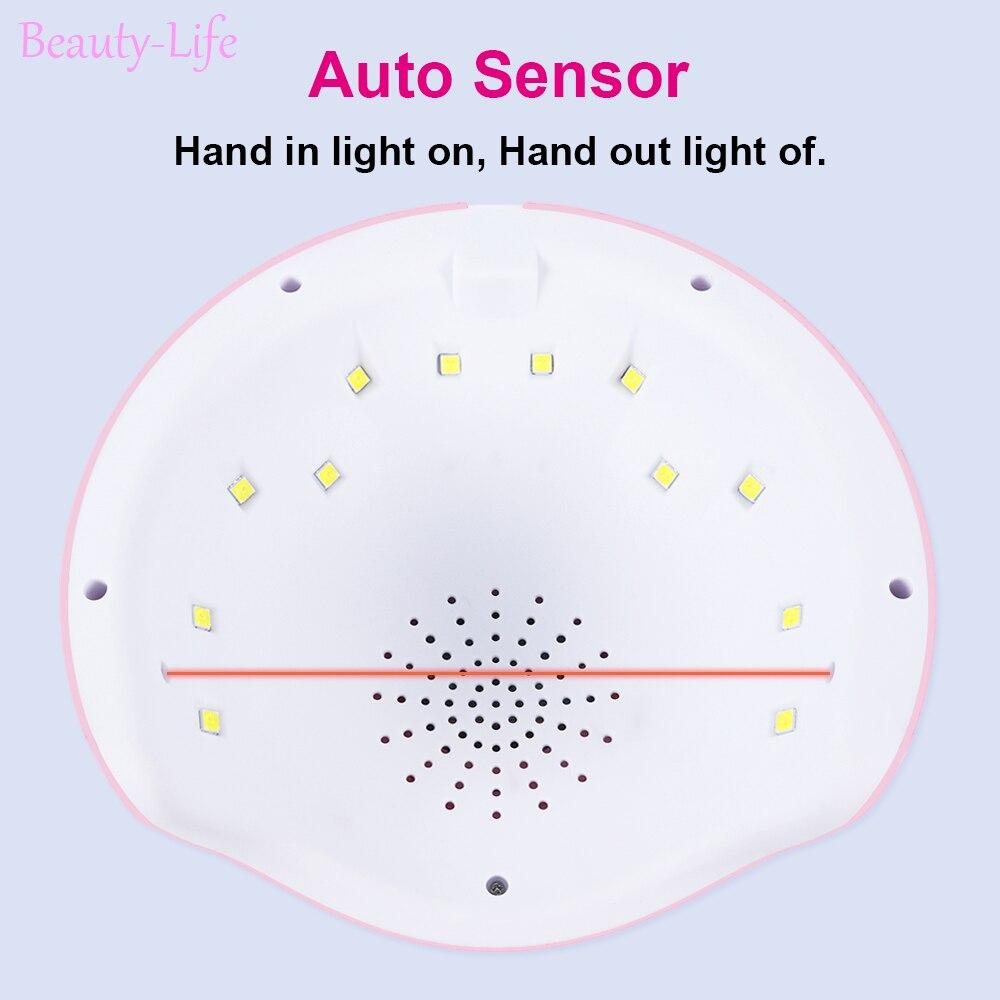 УФ-лампа для маникюра светодиодный Сушилка для ногтей лампа солнцезащитный свет отверждение всех гель-лаков Сушка УФ-гель USB умный выбор времени инструменты для дизайна ногтей LASTAR6