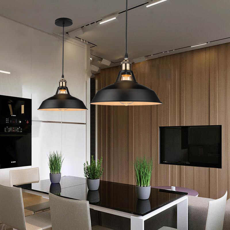 Przemysłowe w stylu Retro restauracja kuchnia główna wisząca lampa lampy dekoracyjne vintage wiszące światło abażur do jadalni