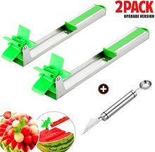 muti function fruit slicer melon watermelon slicer melon cutter practical fruit kitchen tool 2 Packs Watermelon Windmill Cutter Slicer with 2 in 1 Melon Baller & Fruit Carver