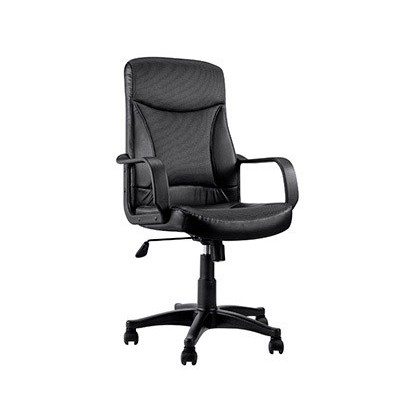CHAIR STEERING DAMPER Q-CONNECT FABRIC HIGH BACK ADJUSTABLE HEIGHT 1030 + 100MM HIGH 500 LONG 490MM PROF BLACK