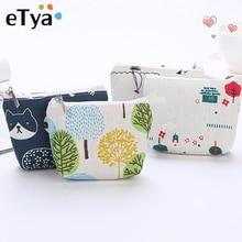 ETya, модный холщовый кошелек, для карт, для ключей, для монет, мини кошелек, сумка, для женщин, детей, маленькая, на молнии, кошелек для монет, держатель для карт, кошелек