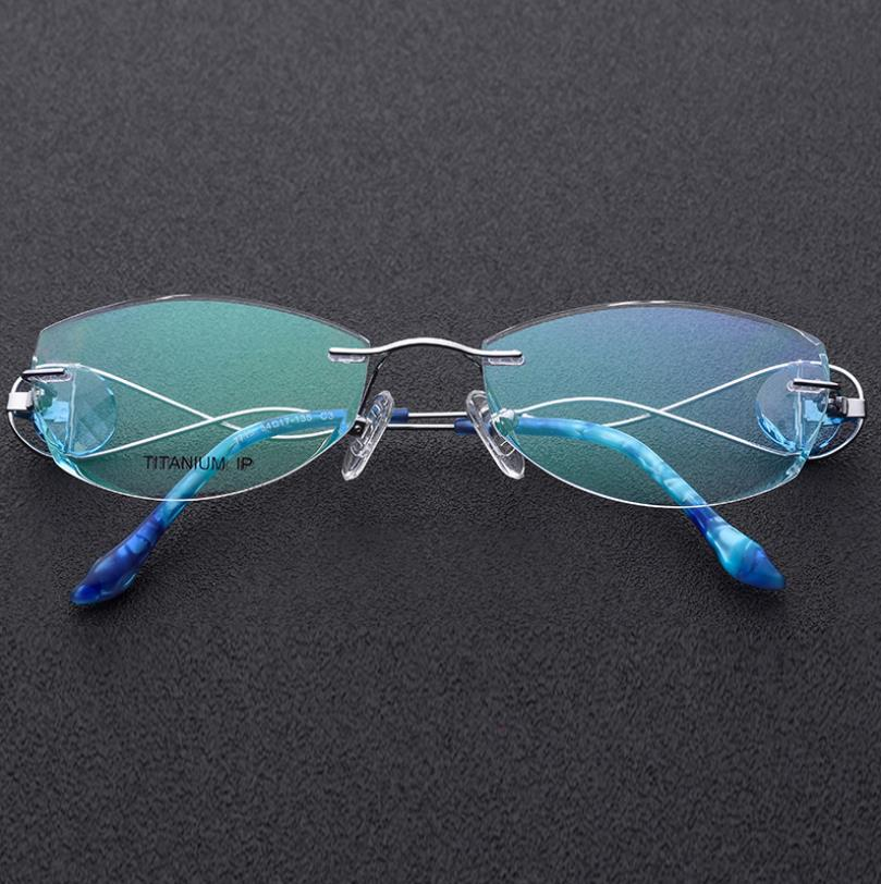 Top grade B Titanium frames SL719 for women famale frame rimless glasses myopia reading glasses ultralight frame speiko eyewear - 4