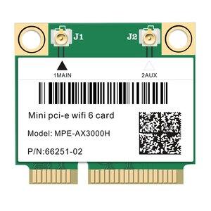 2974 Мбит/с Wi-Fi 6 Dual Band Беспроводной Половина Mini PCI-E беспроводная сеть Wi-Fi карты Bluetooth 5,0 802.11ax/ac 2,4 ГГц/5 ГГц адаптер MU-MIMO