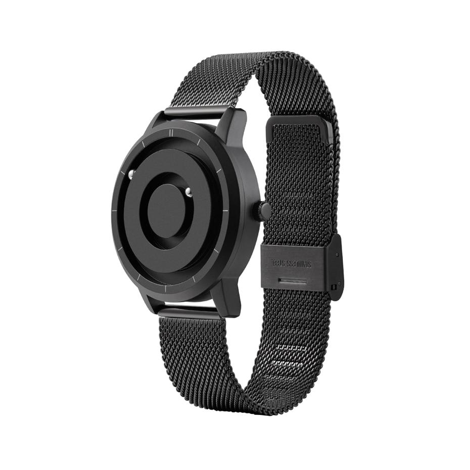 EUTOUR New Innovative Blue Gold Magnetic Metal Multifunctional Watch Men's Fashion Sports Quartz Watch Simple Men's Watch 2