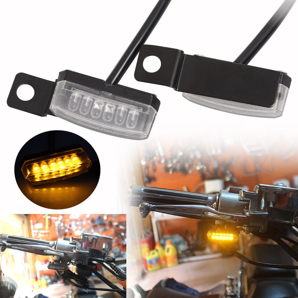 Front Rear LED Mini Turn Signal Light Blinker Light Indicators For Harley Bobber Honda Yamaha Cafe Racer Scooter ATV Motocross