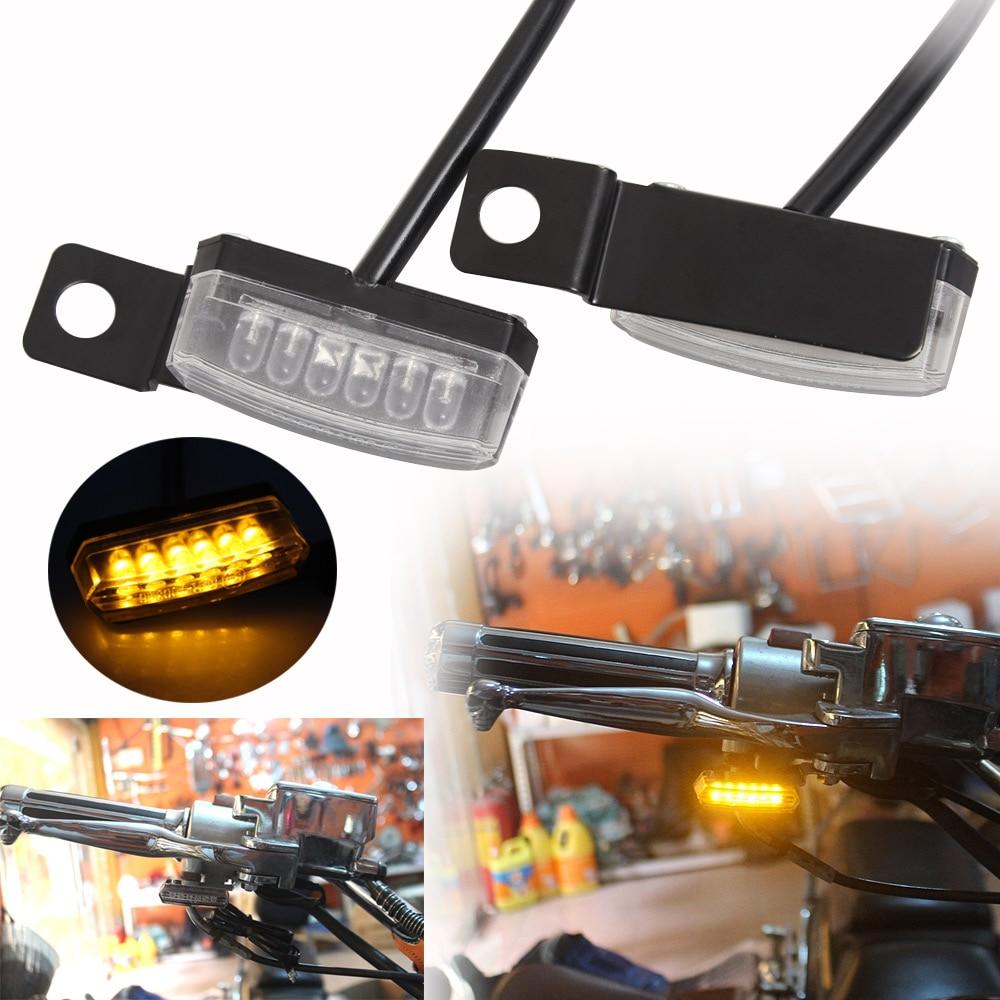 luz de seta frontal e traseira de led mini indicador de luz para harley bobber honda
