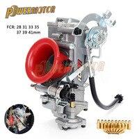 Powermotor Motorcycle Carburetor Carb Racing for Keihi FCR28mm 33mm 35mm 37mm 39mm 41mm Dirt Bike ATV 4Stroke CRF450/650 FS450