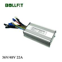 BOLLFIT EBike Controller 36V 48V 22A 9 MOSFET ไฟฟ้าจักรยาน KT Kunteng 500W มอเตอร์ปกติ Plug