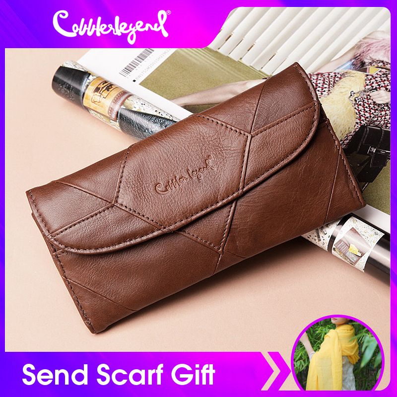 Cobbler Legend Diamonds Patchwork Genuine Leather Wallet Birthday Gift For Woman Purse female Designers Brand Woman Wallet moneybrand leather walletdesigner leather walletleather designer wallet -