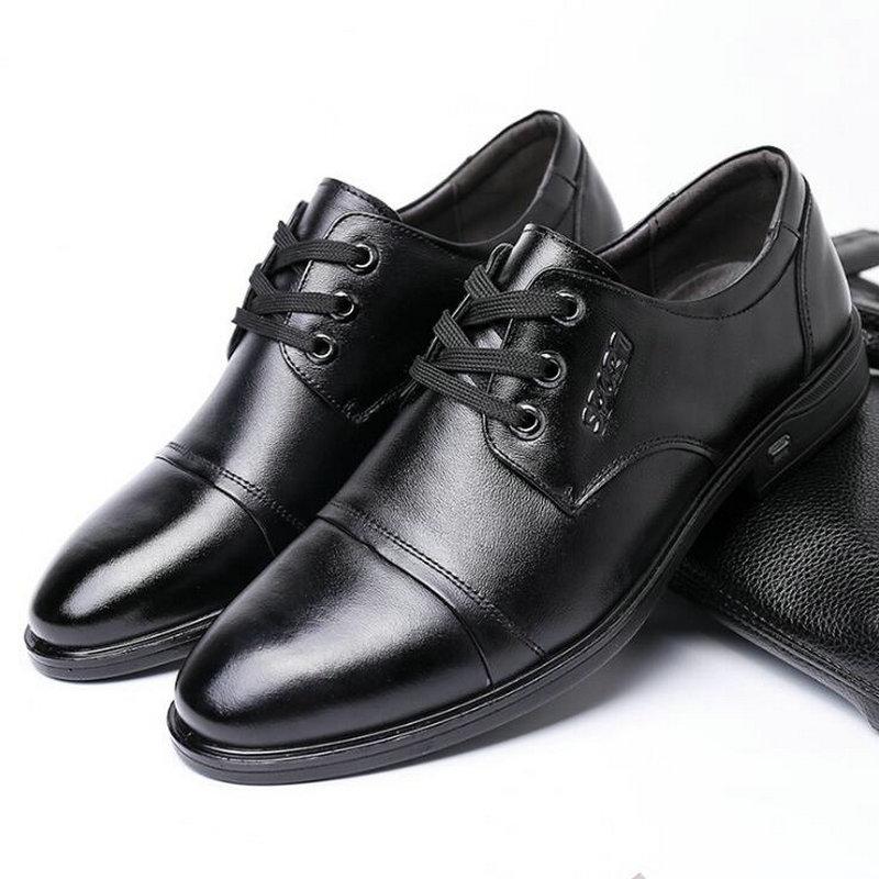 2019 new Fashion Men Dress Shoes Oxford Shoes Men Lace Up Business Shoes office shoes Men formal shoes C21 21