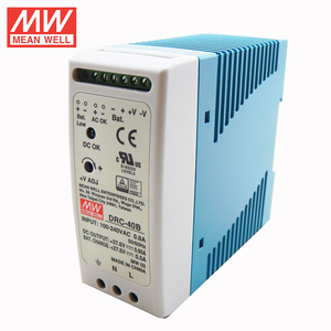 MEAN WELL DRC-40A DRC-40B 13.8V 27.6V 40W Original UPS DIN Rail Security Industry Or Battery systerms Switching Power Supply