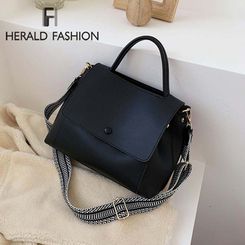 Fashion Simply PU Leather Crossbody Bags For Women 2020 Solid Color Shoulder Messenger Bag Lady Chain Travel Small Handbags - discount item  32% OFF Women's Handbags
