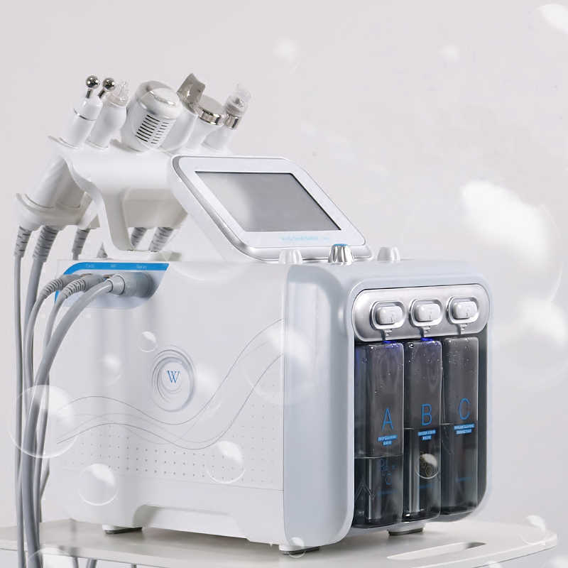 6 in1 H2-O2 hydraulique Dermabrasion RF Bio-levage Spa hydrodermabrasion faciale Machine