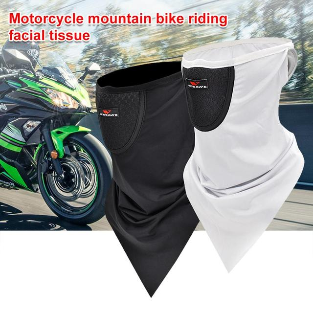 Motorcycle Mountain Bike Riding Face Towel Male Ice Silk Mask Sunscreen Face Towel Triangle Scarf Head Scarf Riding Scarf